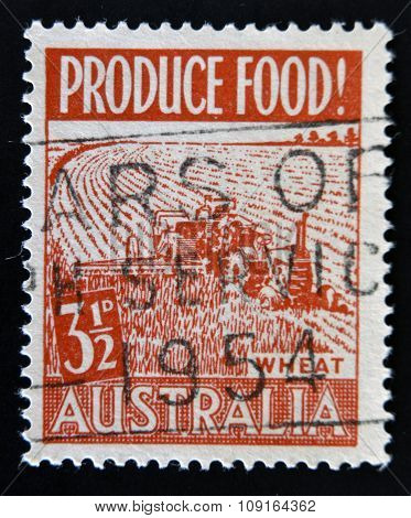 AUSTRALIA - CIRCA 1950: A stamp printed in Australia dedicated program