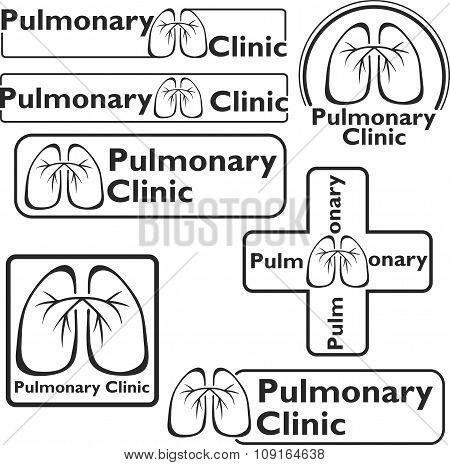 Medical logos. Lungs symbols.
