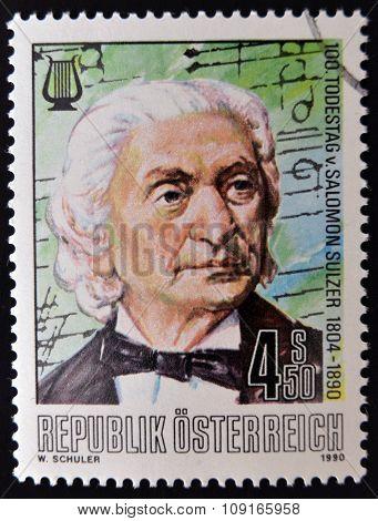 AUSTRIA - CIRCA 1990: stamp printed in Austria shows Salomon Sulze