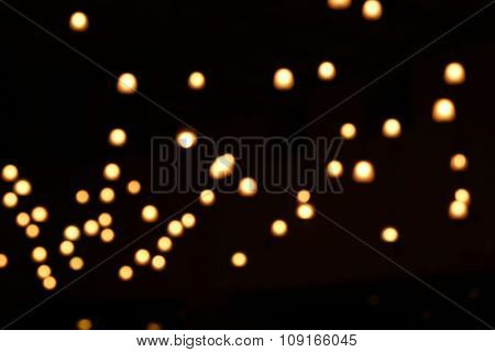 Background of ceiling with lights, close-up