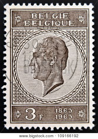 BELGIUM - CIRCA 1965: a stamp printed in Belgium shows Leopold I the First King of the Belgians