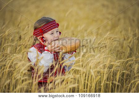 Child in Ukrainian national costume
