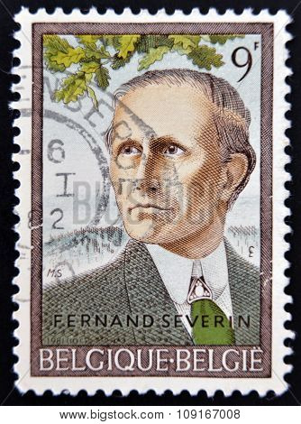 BELGIUM - CIRCA 1981: A stamp printed in Belgium shows Fernand Severin circa 1981