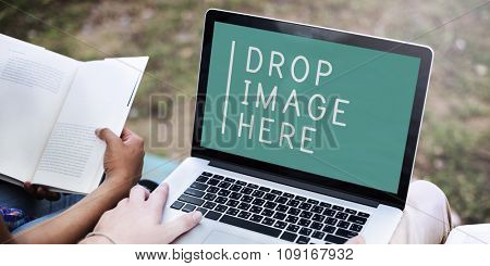 Laptop Technology Advertising Commercial Copy Space Concept