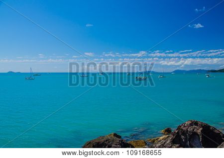 Sailboats in the Whitsunday Islands