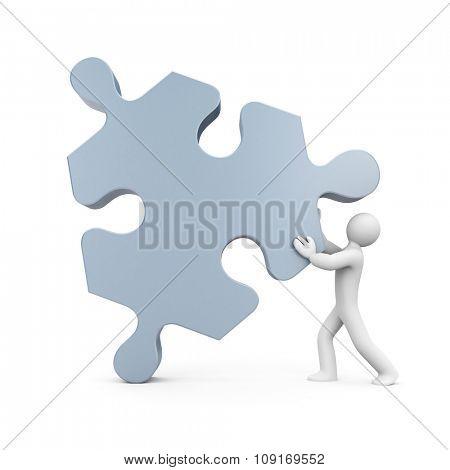 3d man push puzzle