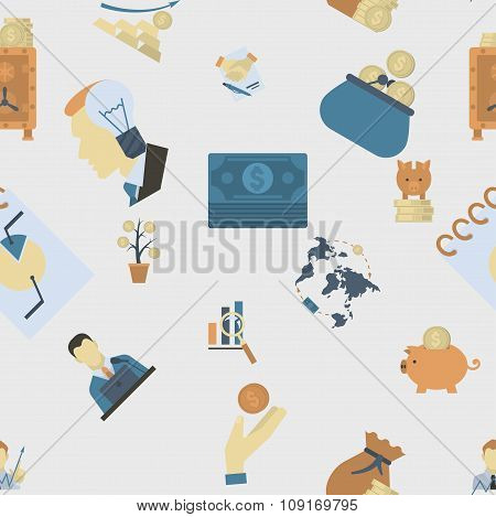 Business and Finance Seamless Pattern