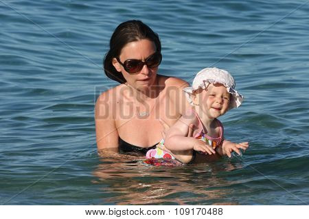 Baby Girl With Her Mother