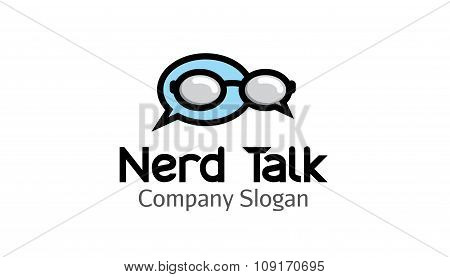Nerd Talk Creative And Symbolic Logo Design Illustration