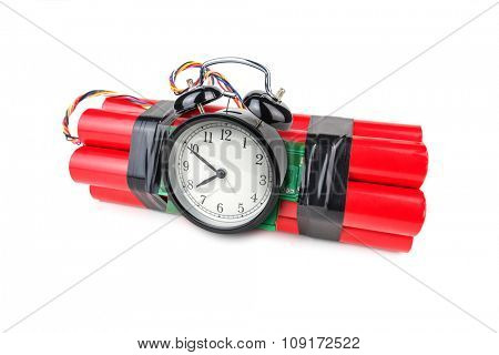 bomb with analog timer isolated