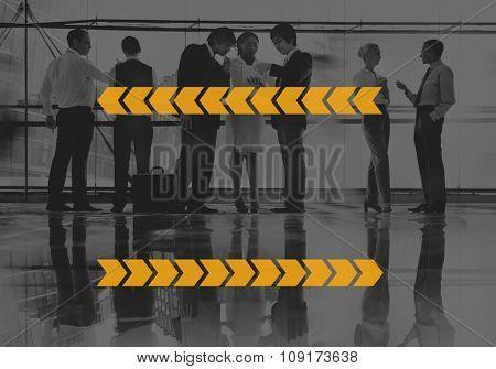 Copy Space Line Stripe Arrow Label Concept