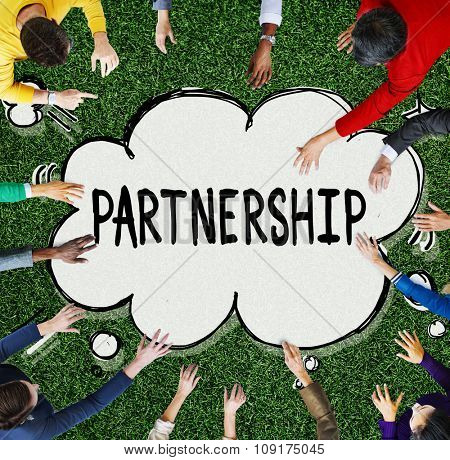 Partnership Connection Cooperation Motivation Partner Concept