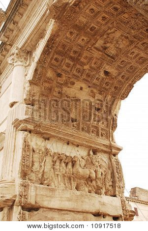 Interior Of The Arch Of Titus In The Roman Forum