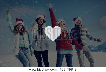 Heart Love Togetherness Romance Copy Space Concept