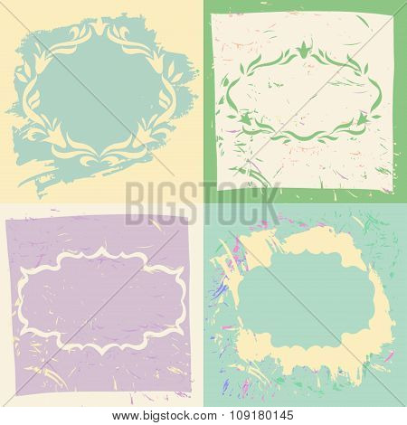 Set backgrounds and frames in pastel colors.