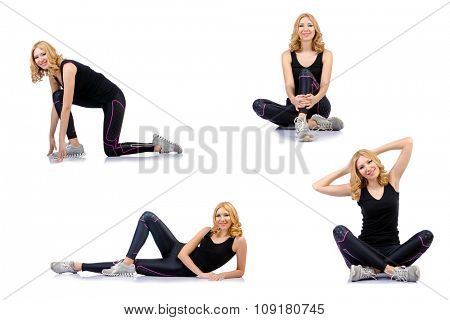 Concept of healthy lifestyle in set