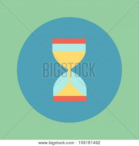 Vector Illustration, Icon Hourglass Slim Design, A Symbol Of Time