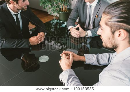Business Meeting In The Office
