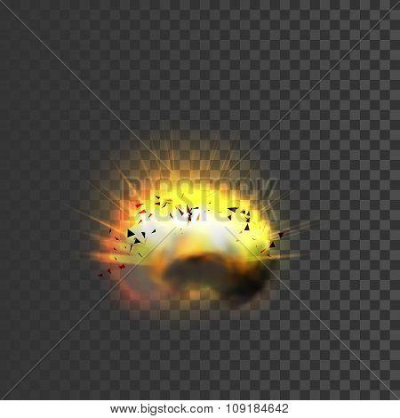 New realistic explosion icon