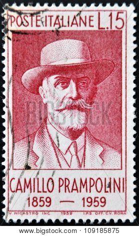 ITALY - CIRCA 1959: stamp printedin Italy shows Camillo Prampolini circa 1959
