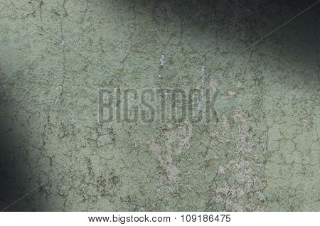 Grayish Green Weathered And Distressed Texture Lit Diagonally