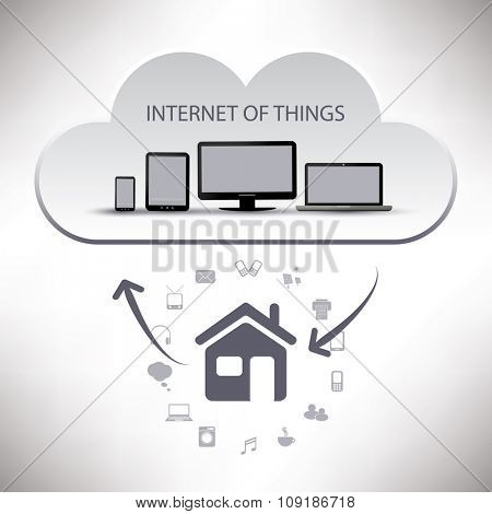 Internet Of Things, Digital Home And Networks Design Concept With Icons