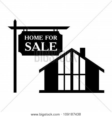 Sale house simple icon