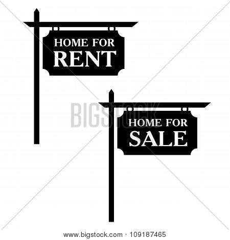 Sale and rent simple icons