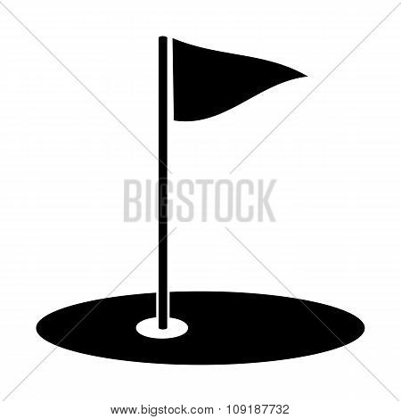 Golf simple icon