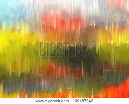 Abstract Colorful Texture Or Background In Green, Blue And Orange
