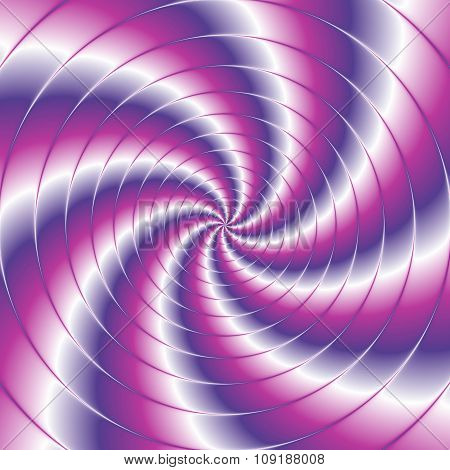 Abstract Spiral Background With Circles In Violet And Pink