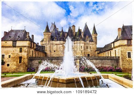 beautiful castles of France - Jumilhac-le-grand, artsitic pictur