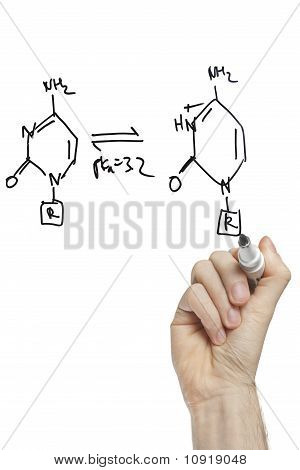Hand Drawing Molecule Structure