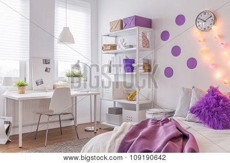 Room With Purple Decoration