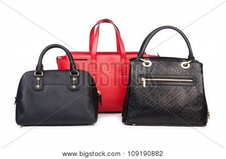 Woman bag isolated on the white