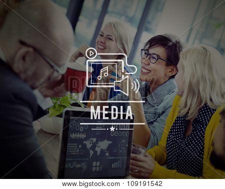 Media Social Networking Entertainment Multimedia Concept