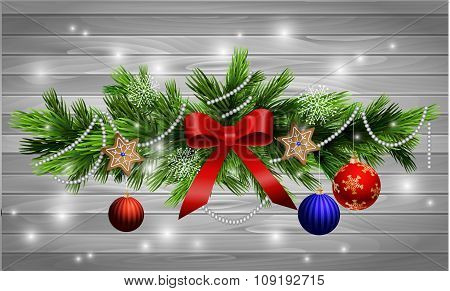 Christmas decoration  evergreen trees