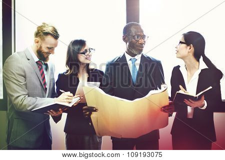Business Brainstorming Discussion Analysis Plan Concept