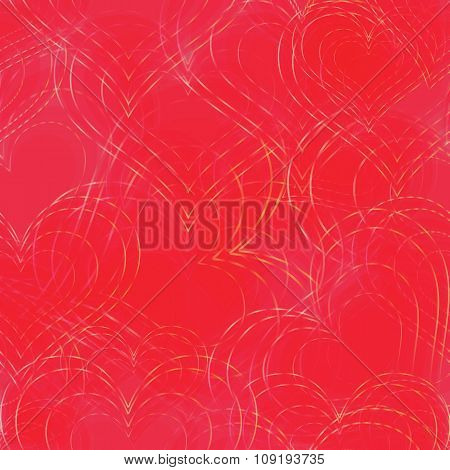 Seamless Background With Heart Shapes