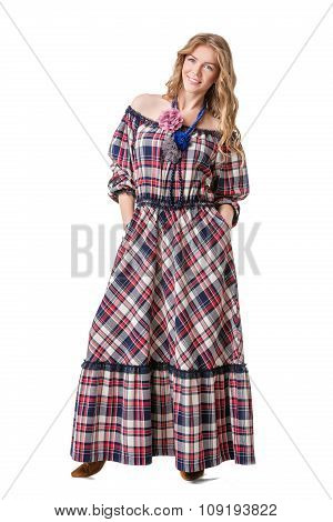 Girl In Checked Dress