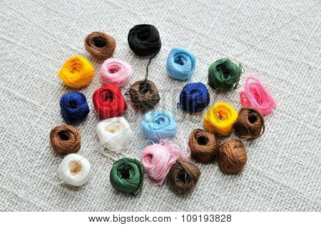 Thread for embroidery and sewing.