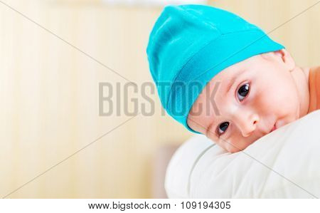 Small baby in childhood concept