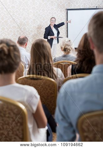 Showing Professional Presentation