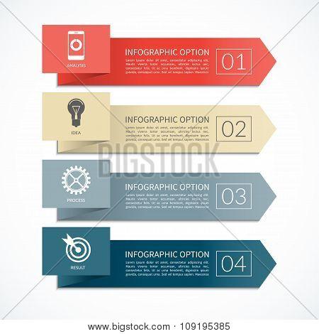 Arrow infographic banner. 4 steps design template