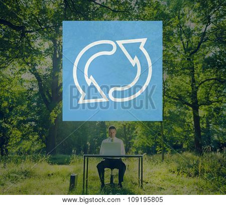 Recycle Environmental Conservation Cycle Symbol Concept