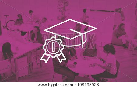 Academic Graduation Hat Successful Education Concept