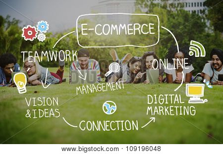 E-Commerce Ideas Analysis Communication Solution Social Concept