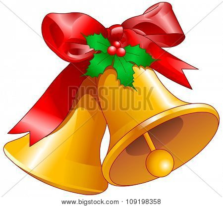 Illustration of Christmas bells
