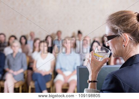 Drinking Water During Conference