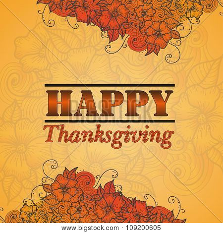 Card design style Happy Thanksgiving Day